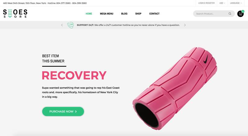 Plantilla de WooCommerce para venta de zapatos