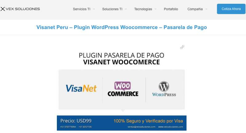 Alerta por estafa de compra en los portales de t proveedores que vendan esa solución y logre encontrar a www.pasarelasdepagos.com y a https://www.vexsoluciones.com/ que ambos son los mismos.